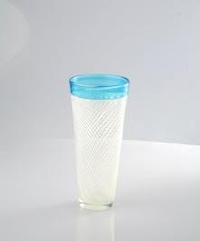 "10"" Blue Vase"