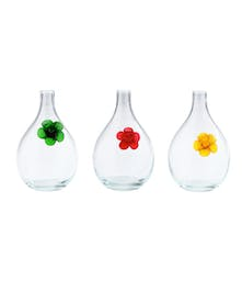 "10"" Clear Vase with Assorted color accent"