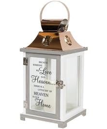 Memorial Lantern with Religious Inscription