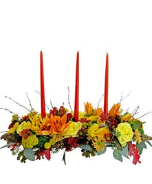 thanksgiving centerpiece filled with fall classics