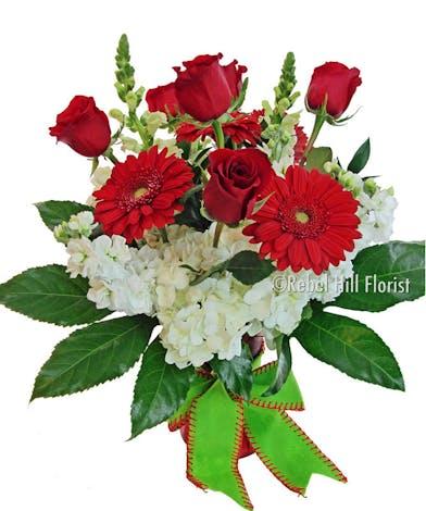 Merry Arrangement of Christmas Flowers